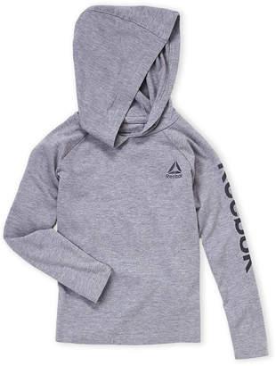 Reebok Boys 4-7) Grey Raglan Hooded Tee