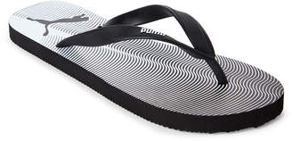 Puma Black & White Gradient Wave Flip Flops