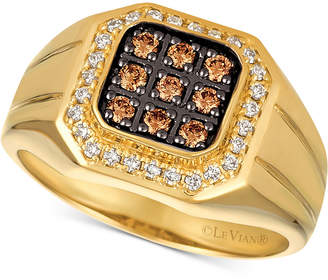 LeVian Le Vian Gents Men Diamond Ring (1/2 ct. t.w.) in 14k Gold