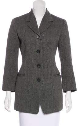 Les Copains Wool Textured Blazer