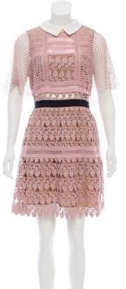 Self-Portrait Floral Lace A-Line Dress w/ Tags