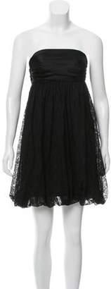 Dolce & Gabbana Silk-Blend Lace-Accented Dress