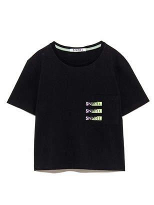 Snidel (スナイデル) - SNIDEL SNIDELロゴポケットTシャツ