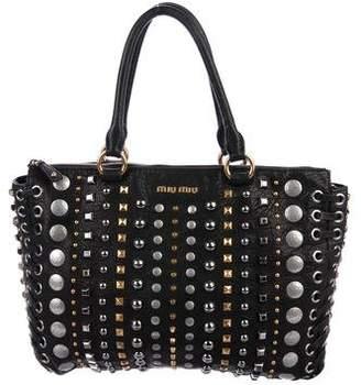 8a006b6444cd Miu Miu Black Leather Tote Bags - ShopStyle