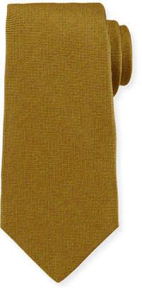 Kiton Textured Solid Silk Tie, Gold