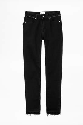 Zadig & Voltaire Eva Zip Jeans