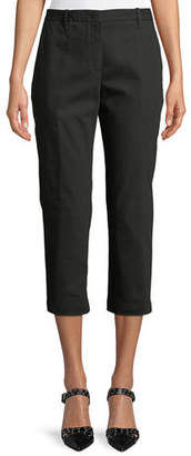 Jil Sander Slim-Fit Straight-Leg Cropped Pants