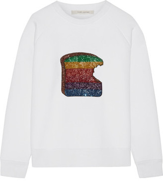 Marc Jacobs - Sequin-embellished Jersey Sweatshirt - White $1,800 thestylecure.com