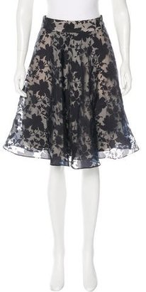 Reiss Floral A-Line Skirt w/ Tags $75 thestylecure.com
