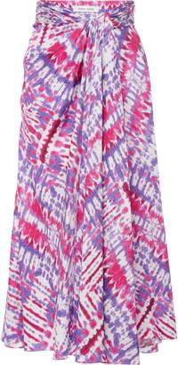Prabal Gurung Tie-Dye Silk Midi Skirt