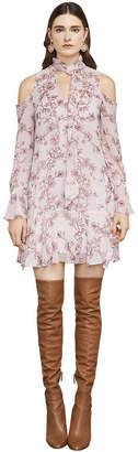 BCBGMAXAZRIA Janus Cold-Shoulder A-Line Dress