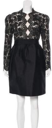 Stella McCartney Silk-Blend Dress Tan Silk-Blend Dress