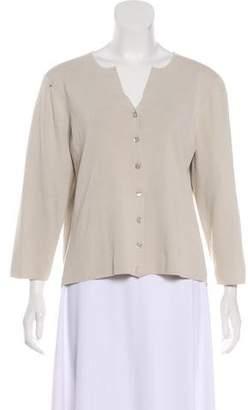Geoffrey Beene Long Sleeve Button-Up Cardigan