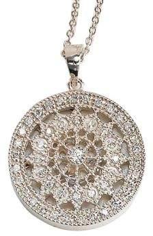 Effy Pave Classica 14K White Gold Diamond Medallion Pendant Necklace