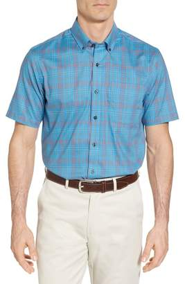 Cutter & Buck Isaac Classic Fit Easy Care Check Sport Shirt
