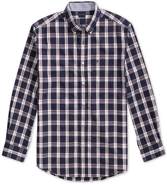 Tommy Hilfiger Adaptive Men Plaid Shirt with Magnetic Buttons