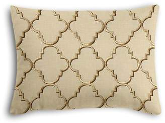 Loom Decor Boudoir Pillow Fancy Fretwork - Gold