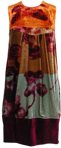 Etro Velvet floral print dress
