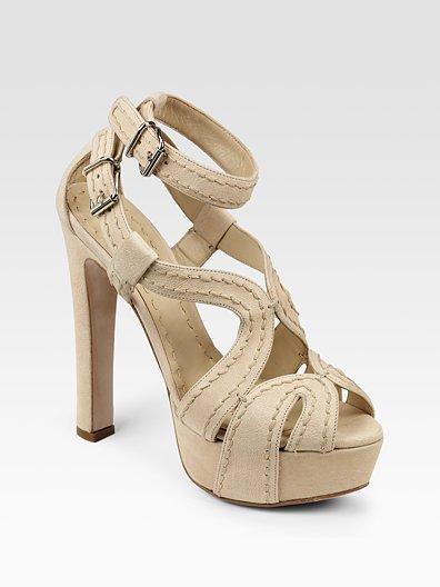 Miu Miu Stitch-Detail Platform Sandals