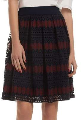 Trina Turk Leland Mesh Knee-length Skirt