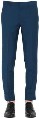 Prada 17cm Slim Virgin Wool Mohair Pants