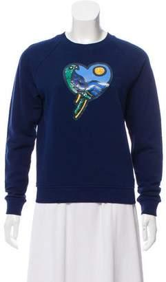 Tory Burch Embellished Crew Neck Sweatshirt w/ Tags