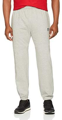 Flying Ace Men's Elastic Bottom Fleece Sweatpant with Logo Embroidery