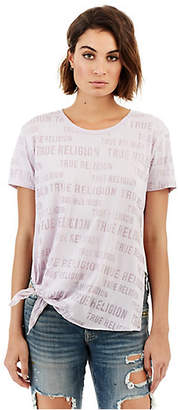True Religion SLOGAN TIE SIDE WOMENS TEE
