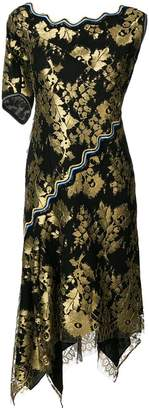 Peter Pilotto asymmetric foil print dress