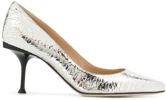 Sergio Rossi metallic pointed pumps