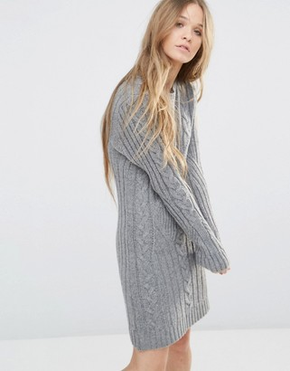 Moon River Long Sleeve Sweater Dress $103 thestylecure.com
