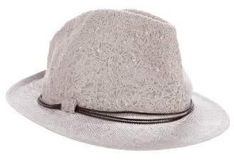 Brunello Cucinelli Lace-Embellished Straw Hat