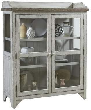 Laurèl Foundry Modern Farmhouse Fredericksburg Console Curio Cabinet