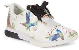 Ted Baker Spring Birds Lace-Up Sneakers