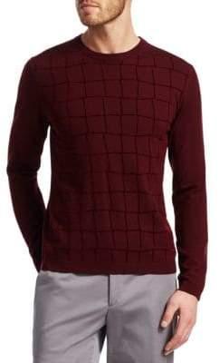 Giorgio Armani Square Pattern Sweater