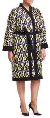 Fausto Puglisi Marina Rinaldi, Plus Size x Marina Rinaldi Fedelta Geometric Print Kimono Jacket