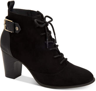 Giani Bernini Candence Memory Foam Lace-Up Ankle Booties