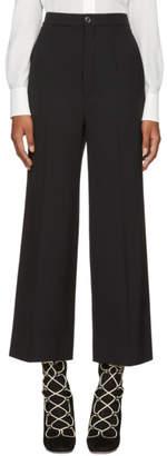 Chloé Black Classic Crop Flared Trousers