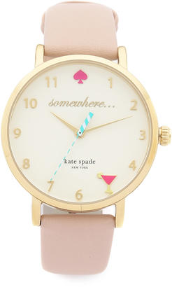 Kate Spade New York 5 O'Clock Metro Leather Watch $195 thestylecure.com