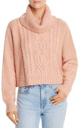 BB Dakota Say Anything Cropped Cable-Knit Sweater - 100% Exclusive