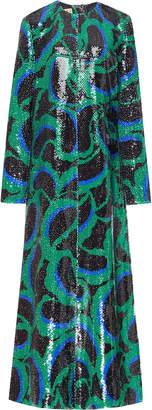 Marni Printed Sequin Maxi Dress