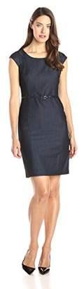 Jones New York Women's Brook Denim Cap-Sleeve Dress $27.85 thestylecure.com