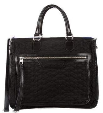 MZ Wallace Quilted Leather-Trim Tote