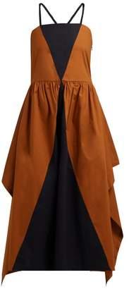 Isa Arfen Cesenatico Panelled Cotton Dress - Womens - Black Multi