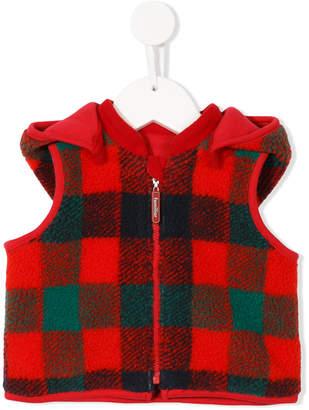 Familiar sleeveless hoodie