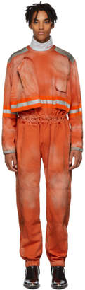 Calvin Klein Orange Fireman Reverse Zip Jumpsuit