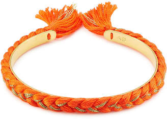 Aurelie Bidermann 18K Gold Plated Bangle with Cotton Braid