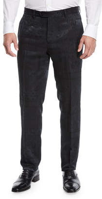 Etro Men's Jacquard Flat-Front Evening Pants