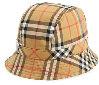 Burberry Rainbow Stripe Vintage Check Bucket Hat