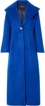 Paper London Belle Brushed Wool-blend Coat - Cobalt blue
